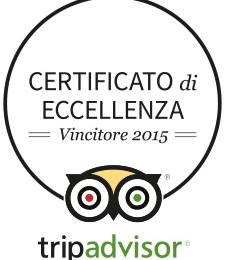 tripadvisor Certificato d'eccellenza 2015