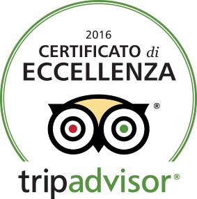tripadvisor Certificato d'eccellenza 2016