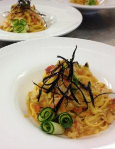 Linguine gamberetti e zucchine