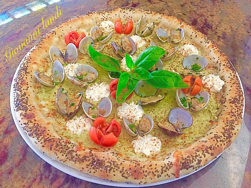 Pizza con le vongole